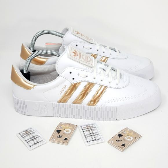 Adidas Womens Sambarose Copper Metallic Size 10